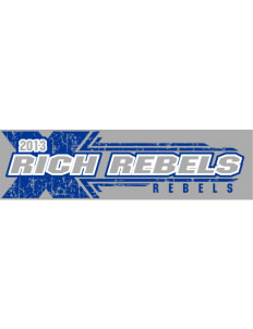 "Rich High School Rebels Bumper Sticker 11"" x 3"""