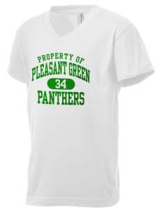 Pleasant Green Elementary School Panthers Kid's V-Neck Jersey T-Shirt