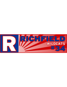 "Richfield High School Wildcats Bumper Sticker 11"" x 3"""