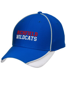 Richfield High School Wildcats Embroidered New Era Contrast Piped Performance Cap