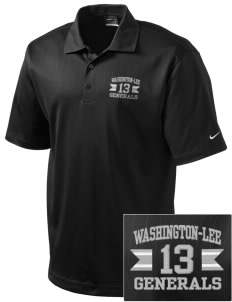 Washington-Lee High School Generals Embroidered Nike Men's Dri-FIT UV Textured Golf Polo