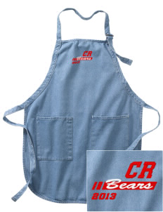 Cub Run Elementary School Bears Embroidered Full-Length Apron with Pockets