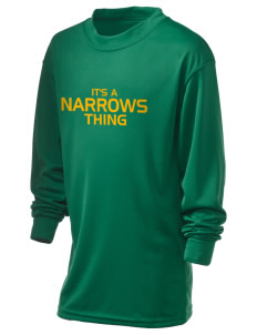 Narrows High School Green Wave Holloway Kid's Performance Spark Long Sleeve T-Shirt