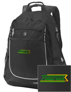 Narrows High School Green Wave Embroidered OGIO Carbon Backpack