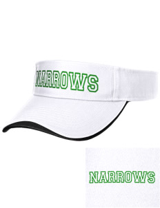 Narrows High School Green Wave Embroidered Binding Visor
