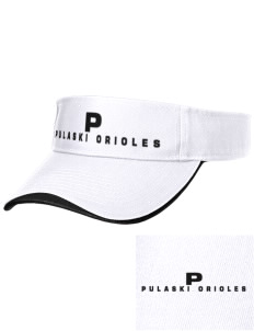 Pulaski Middle School Orioles Embroidered Binding Visor