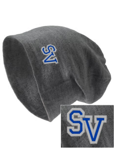 Sunset View Elementary School Mustangs Embroidered Slouch Beanie