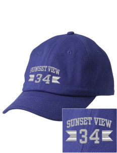 Sunset View Elementary School Mustangs Embroidered Champion 6-Panel Cap