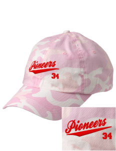 Paterson Elementary School Pioneers Embroidered Camouflage Cotton Cap