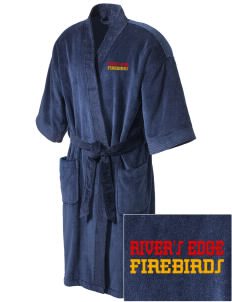 River's Edge High School Firebirds Embroidered Terry Velour Robe