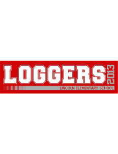 "Lincoln Elementary School Loggers Bumper Sticker 11"" x 3"""