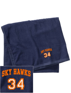Sacajawea Elementary School Sky Hawks Embroidered Beach Towel