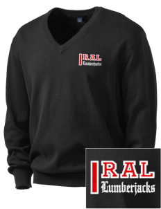R.A. Long High School Lumberjacks Embroidered Men's V-Neck Sweater
