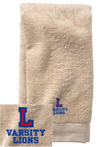 Lee Elementary School Lions  Embroidered Zero Twist Resort Hand Towel
