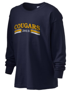 Central Park Elementary School Cougars Kid's 6.1 oz Long Sleeve Ultra Cotton T-Shirt