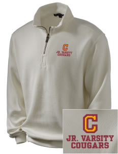 Cosmopolis Elementary School Cougars Embroidered Men's 1/4-Zip Sweatshirt