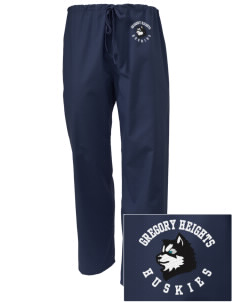 Gregory Heights Elementary School Huskies Embroidered Scrub Pants