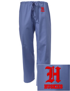 Hilltop Elementary School Huskies Embroidered Scrub Pants