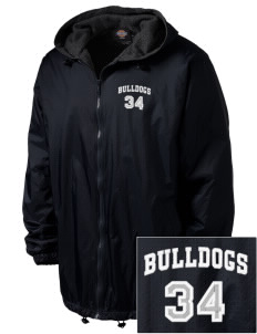 Southern Heights Elementary School Bulldogs Embroidered Dickies Men's Fleece-Lined Hooded Jacket