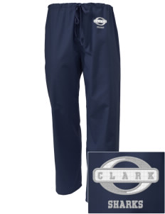Clark Elementary School Sharks Embroidered Scrub Pants