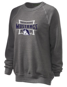 Bryn Mawr Elementary School Mustangs Unisex Alternative Eco-Fleece Raglan Sweatshirt