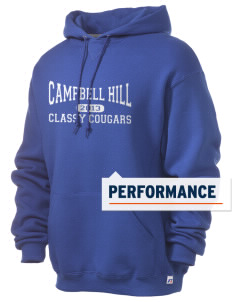 Campbell Hill Elementary School Cougars Cubs Russell Men's Dri-Power Hooded Sweatshirt