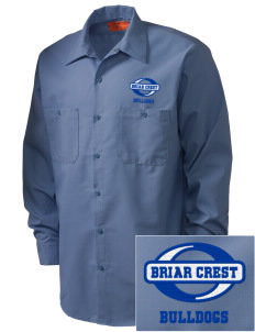 Briar Crest Elementary School Bulldogs Embroidered Men's Industrial Work Shirt - Regular