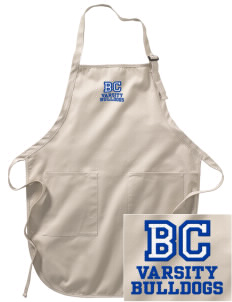 Briar Crest Elementary School Bulldogs Embroidered Full-Length Apron with Pockets