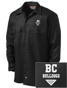 Briar Crest Elementary School Bulldogs Embroidered Dickies Men's Long-Sleeve Workshirt