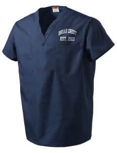 Briar Crest Elementary School Bulldogs V-Neck Scrub Top