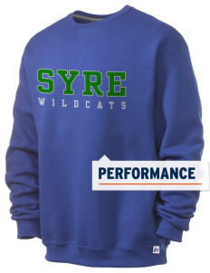 Syre Elementary School Wildcats  Russell Men's Dri-Power Crewneck Sweatshirt
