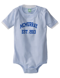 McMurray Middle School Mustangs Baby One-Piece with Shoulder Snaps