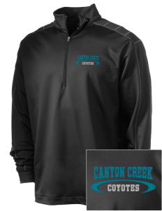Canyon Creek Elementary School Coyotes Embroidered Nike Men's Golf Dri-Fit 1/2 Zip