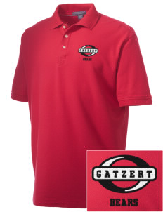 Gatzert Elementary School Bears Embroidered Men's Performance Plus Pique Polo