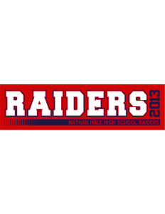 "Nathan Hale High School Raiders Bumper Sticker 11"" x 3"""