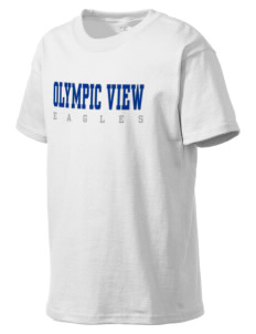 Olympic View Elementary School Eagles Kid's Lightweight T-Shirt
