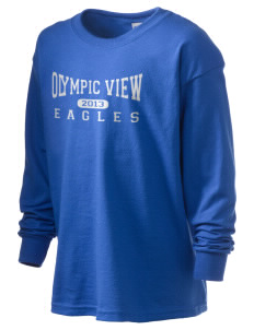 Olympic View Elementary School Eagles Kid's 6.1 oz Long Sleeve Ultra Cotton T-Shirt