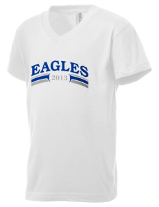 Olympic View Elementary School Eagles Kid's V-Neck Jersey T-Shirt