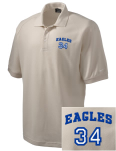 Olympic View Elementary School Eagles Embroidered Nike Men's Pique Knit Golf Polo