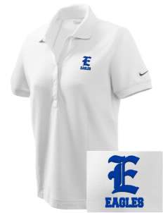 Olympic View Elementary School Eagles Embroidered Nike Women's Pique Golf Polo
