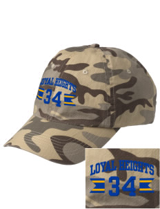Loyal Heights Elementary School Beavers Embroidered Camouflage Cotton Cap
