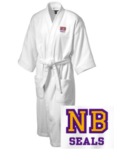 North Beach Elementary School Seals Embroidered Terry Velour Robe