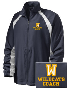 Whitworth Elementary School Wildcats  Embroidered Men's Full Zip Warm Up Jacket