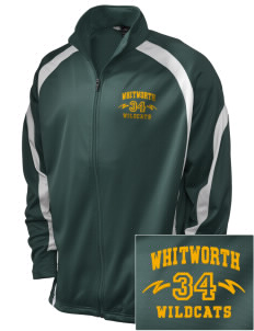 Whitworth Elementary School Wildcats Embroidered Holloway Men's Tricotex Warm Up Jacket