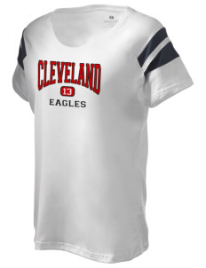 Cleveland High School Eagles Holloway Women's Shout Bi-Color T-Shirt