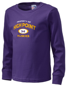 High Point Elementary School Huskies  Kid's Long Sleeve T-Shirt