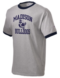 Madison Middle School Bulldogs Champion Men's Ringer T-Shirt