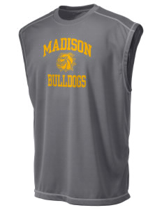 Madison Middle School Bulldogs Champion Men's 4.1 oz Double Dry Odor Resistance Muscle T-Shirt