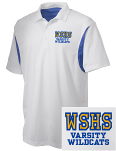 West Seattle High School Wildcats Embroidered Men's Back Blocked Micro Pique Polo