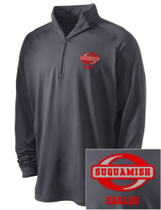 Suquamish Elementary School Eagles Embroidered Men's Stretched Half Zip Pullover
